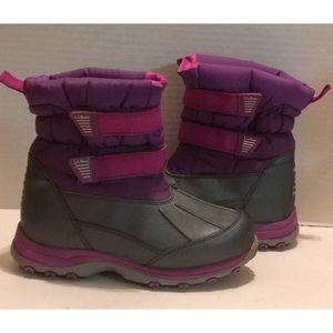 LL. BEAN NEW KIDS Winter BOOTS SNOW RAIN VELCRO 4